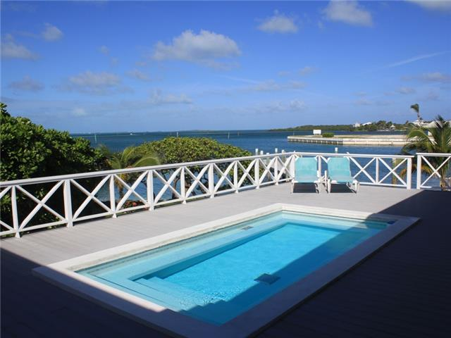 Captains Quarters overlooks the Sea of Abaco.