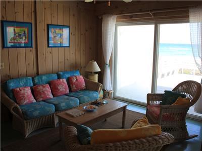 Living Room opens to great ocean views