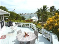 Large deck overlooks Hope Town Harbour, village and Atlantic Ocean beyond. Deck wraps around giving each master access to pool, boat, beach.  BBQ grill and furniture to make it a favorite Abaco hangou