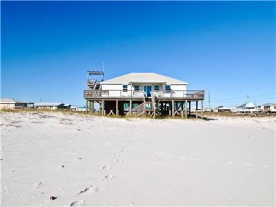 House viewed from the beach