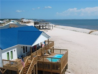 Gulf of Mexico beachhouse with private heated Pool