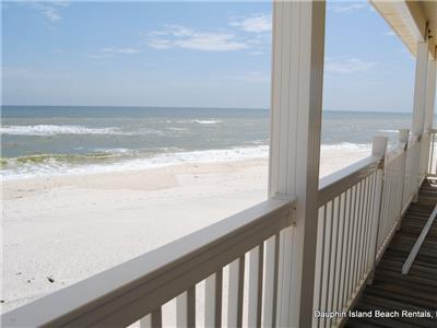 Great Gulf views from large Porches