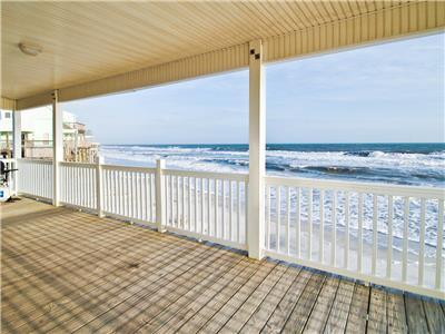 Large covered porch views Gulf