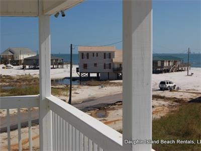 partial Gulf view from deck and porches