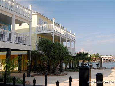 Duplex is just steps from Dock, Pool, Bay
