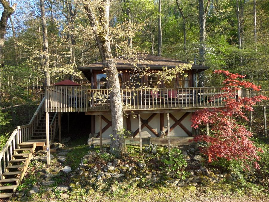 Lake Front House In Eureka Springs (Cedar) With Patio Furniture, Queen Bed