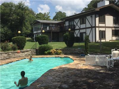 Pool provides fantastic wooded views