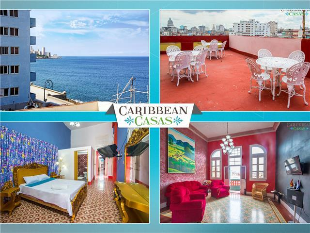Casa La Dominica for 10-12 guests in central Havana, with Caribbean Casas