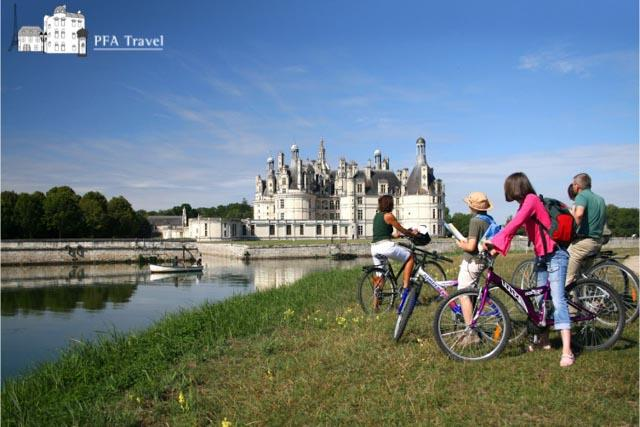 Bike ride to Chambord castle