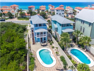 FOOTPRINTS IN THE SAND: New Guest House, Huge Pool, Gulf Views, Private!