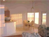 Family room and Kitchen Cathedral Ceilings