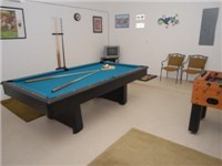 Game room w/ Pool and Foosball