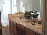 Double vanity master bathroom
