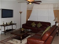 Spacious family room for relaxing and watching TV or your favorite DVD's