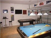 Game room with pool table and air-hockey