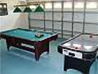 Game room with billards and air hockey