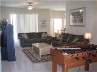 Living area with foosball