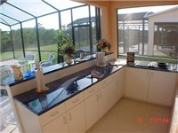 Wonderful summer kitchen. Great for having those BBQ's around the pool.