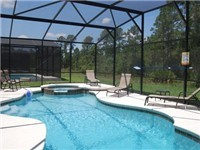 Large Sparkling Pool overlooks conservation area.