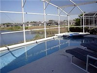 Sparking pool and spa with lakeview
