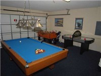Game Room with Billiard, Foosball and Air Hockey