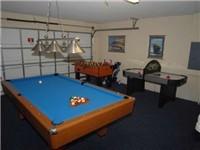 Game Room with Billiard, Foosball and Air Hockey
