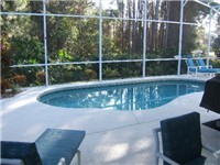 Beautiful serene pool and deck