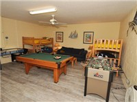 Great gameroom with two bunks for the kids!