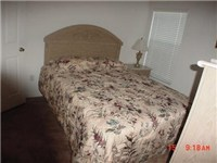 One of two full size bedrooms