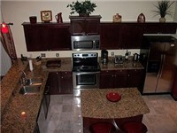 Large and lovely kitchen with lots of counter space