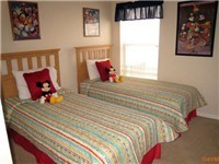 One of TWO twin bedrooms