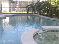 Pool and spa with solar heated pool