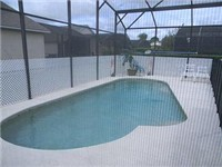 Sparkling pool with privacy screen
