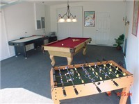 Game room to keep the kiddies and the men busy.