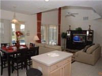 Dinette and family room area