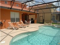 Beautiful pool with deck and covered lanai