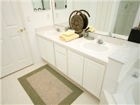 Master Bath with Garden Tub and Shower. Double vanity
