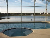 Lovely lake views from your pool and spa
