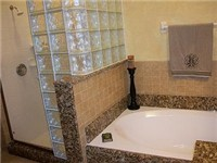 Master Bath with garden tub and walk in shower