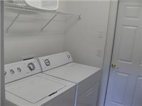 All our homes have a laundry room with a washer dryer ironing board and iron.
