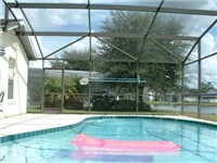 Pool backs to lake for beautiful and relaxing views