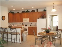 Spacious kitchen and dinette and bar