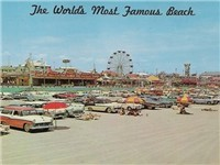 Daytona Beach..Famous since 1932. Twenty five miles of beach that cars cruise and people..people watch!