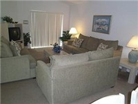 Large spacious living room with lots of comfortable seating
