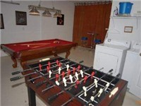 Foosball and bbilliards.