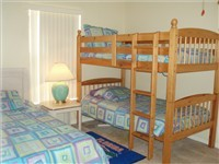 Third bedroom has a three twins. Bunk beds and twin bed