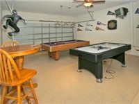 Game Room w/ Air Hockey and Pool Table