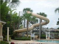 Community Pool Water Slide