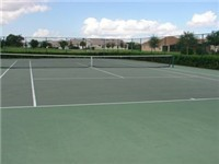 Orange Tree Tennis Court on property