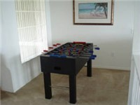 Foosball on loft area